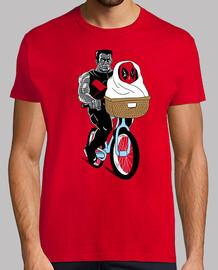 anti héroe bicicleta paseo camisa para hombre