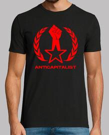 Anticapitalist Puño Estrella Laurel