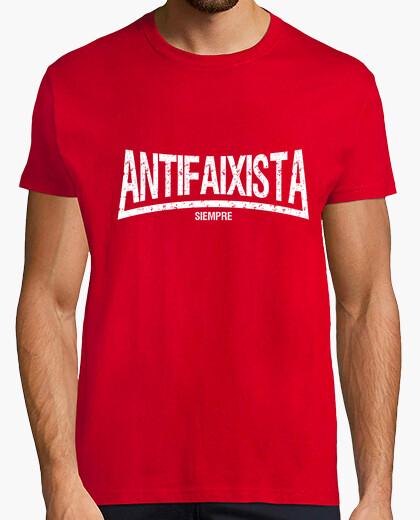 Antifaixista long manga short guy t-shirt