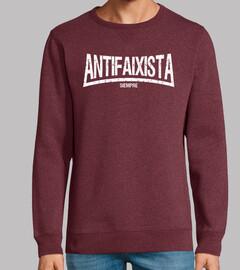 Antifaixista siempre (letras blancas)