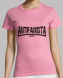 Antifaixista siempre (letras negras)