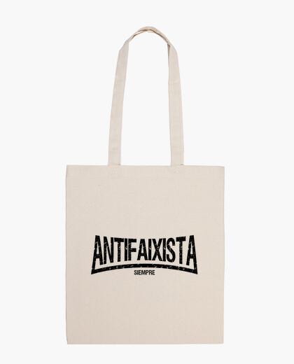Bolsa Antifaixista siempre (letras negras)