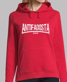 Antifaixista Siempre Sudadera chica