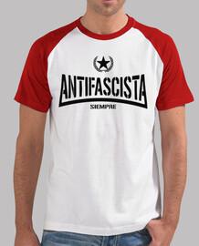 Antifascista siempre - negro