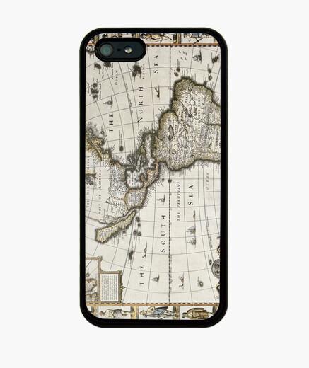 Funda iPhone Antigüo mapa de América 1627