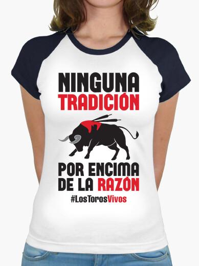 Camiseta Antitaurina - Los Toros Vivos, Mujer (Fondo Claro)