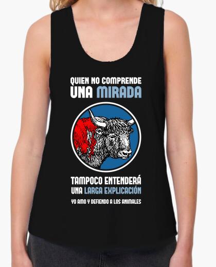 Camiseta Antitaurina, Mujer (Fondo Oscuro)