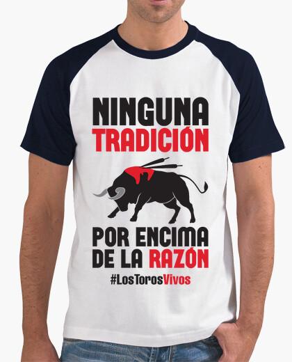 T-shirt antitaurino - los tori dal vivo, l'uomo (sfondo chiaro)