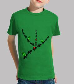 ants! child, short sleeve, green