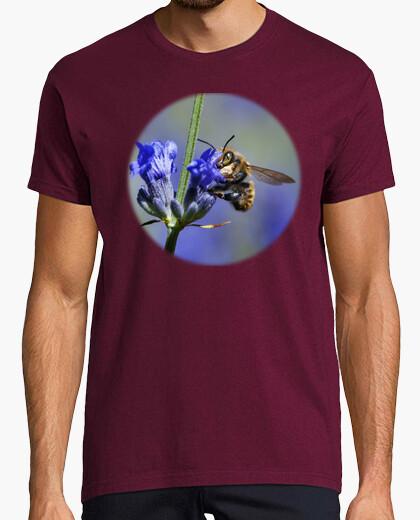 T-shirt ape su fiori di lavanda (petto)