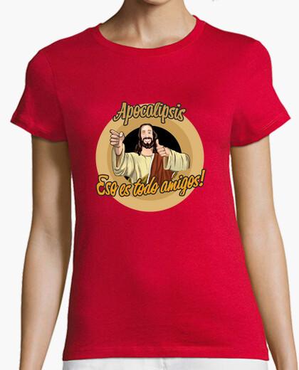 Camiseta Apocalipsis. Eso es todo amigos! roja chica