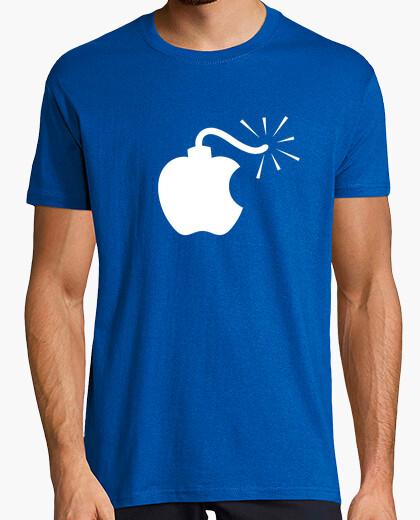 Camiseta Apple Bomba Blanco Retro