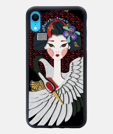 apprentie geisha, héron et papillon