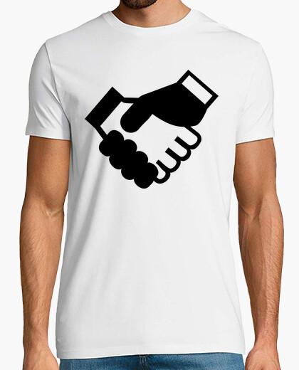Camiseta apretón de manos