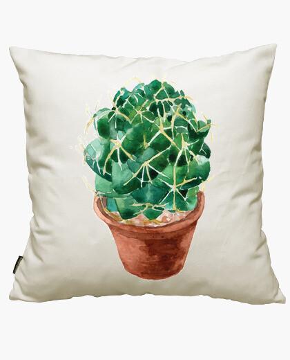 Housse de coussin aquarelle cactus 1