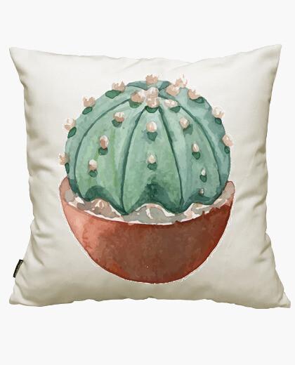 Housse de coussin aquarelle cactus 2