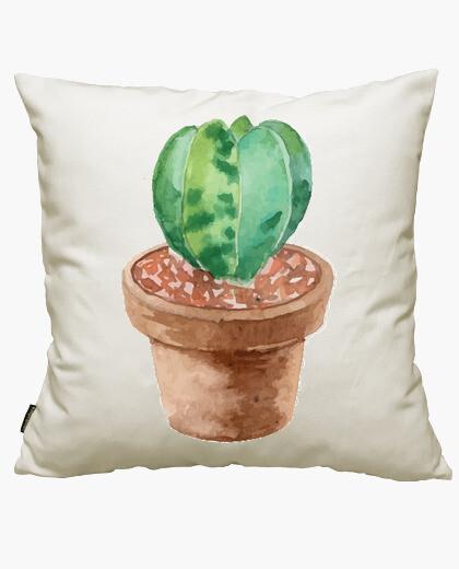 Housse de coussin aquarelle cactus 3
