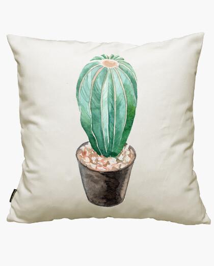 Housse de coussin aquarelle cactus 4