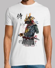aquarelle de samouraï