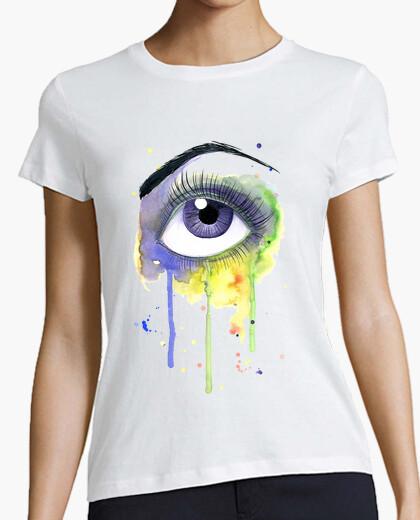 Tee-shirt aquarelle yeux