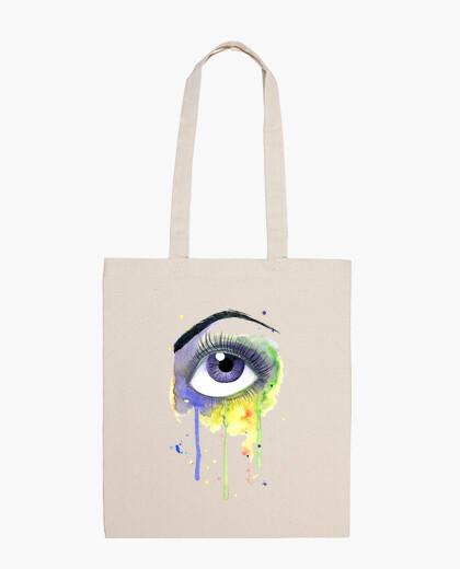 Sac aquarelle yeux