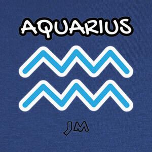Camisetas AQUARIUS T-SHIRT - AQUARIUS SIGN - ASTR