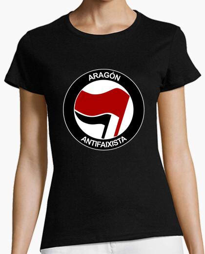 Aragon antifaixista manga short girl t-shirt