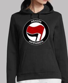Aragón Antifaixista Sudadera chica