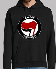Aragón Antifaixista Sudadera chico