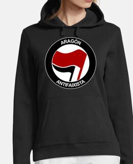aragon antifaixista sweatshirt girl