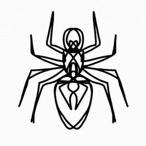 Camisetas araña negra