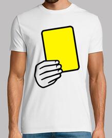 arbitre un carton jaune
