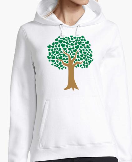 Jersey árbol de amor corazones verdes