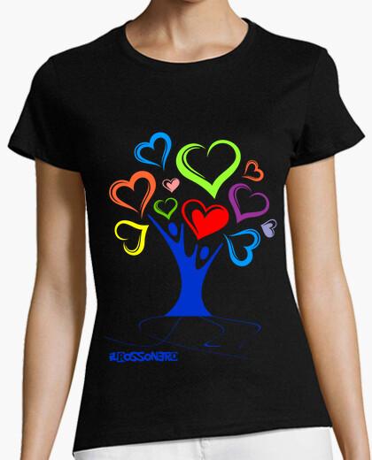 Camiseta arbol de corazones