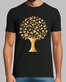Arbol de iconos dorado