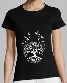 árbol de la vida camiseta árbol de la vida yoga meditación armonía mujer