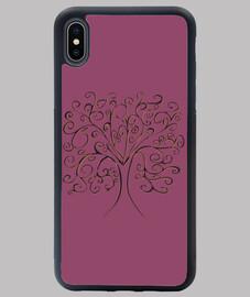 árbol de la vida cubierta púrpura iphone xs