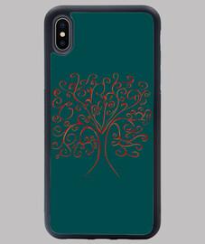 árbol de la vida cubierta verde iphone xs max