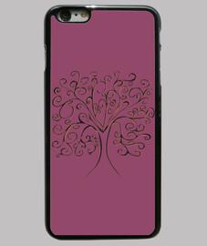 árbol de la vida tapa de color púrpura iphone 6 plus