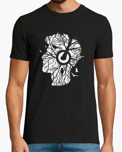 Camiseta árbol de raíces de la música