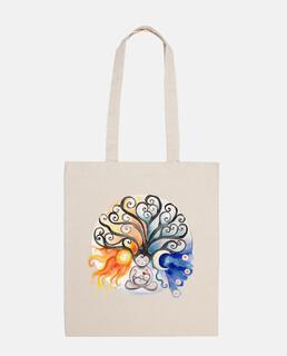 Árbol madre Sol y Luna bolsa tela