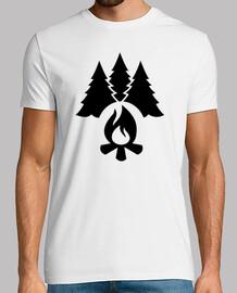 árboles de fogata