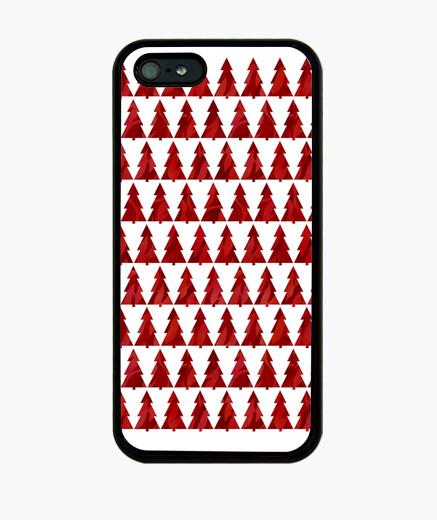 Funda iPhone árboles de navidad rojos