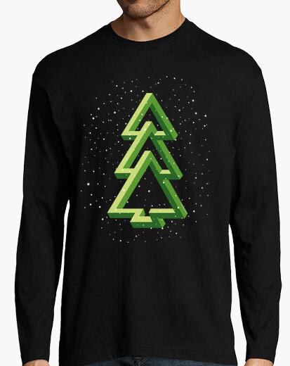 Tee-shirt arbre de noël - sapin - effet optique