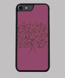 arbre de vie couvrir violet iphone 7/8
