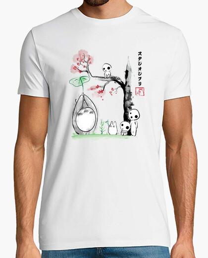 Tee-shirt Arbres de croissance sumi-e