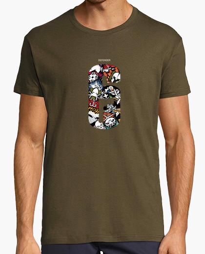 Tee-shirt arc-en-ciel six agents de siège