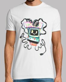 Arcade Hombre, manga corta, blanco, calidad extra