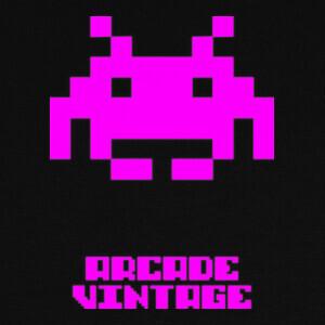 Camisetas Arcade Vintage Invader Rosa