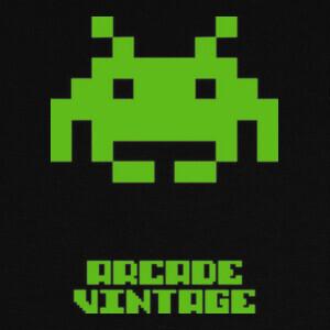 Camisetas Arcade Vintage Invader Verde